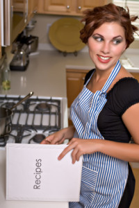 Pretty young woman in kitchen