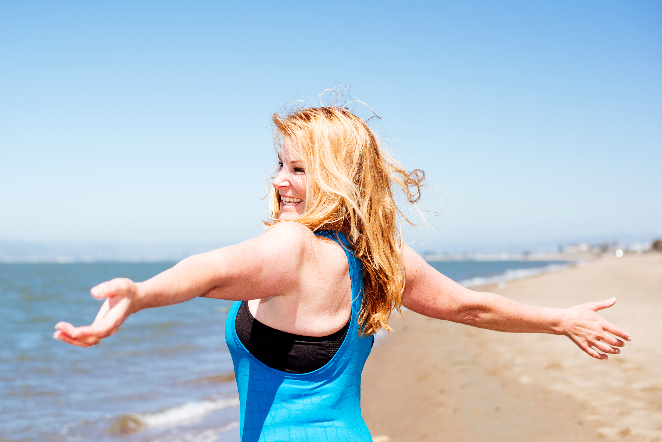 """How To Feel Less Self-Conscious At The Beach"" and ""How Being Grateful Leads To Weight Loss And More"" by Jennifer Ledford - Certified Personal Trainer - ledford0716-8084"